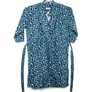 NWT 3XL Blue Sailor Wellness Bathrobe Lounge Robe